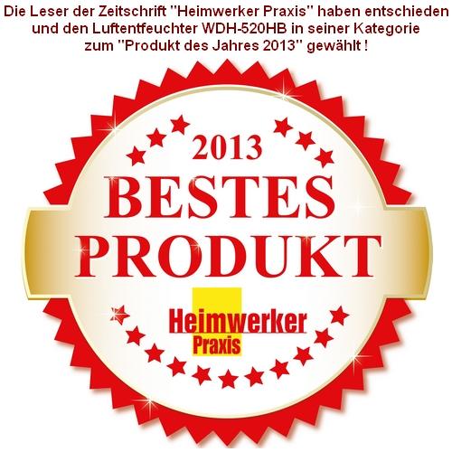 """Heimwerker Praxis """"Bestes Produkt des Jahres 2013"""""""