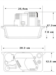 Abmessungen Kondenspumpe WDH-CP12