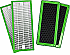 Filter pack of 4 filters for air purifier
