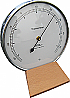 Thermometer with wooden base